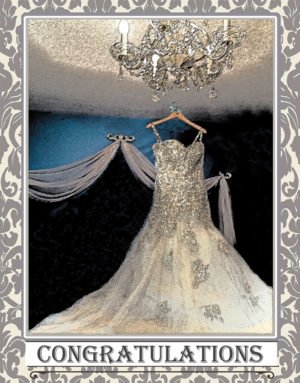Wedding dress greeting card. Photography by Kathryn Hanson, ShutteredEye.
