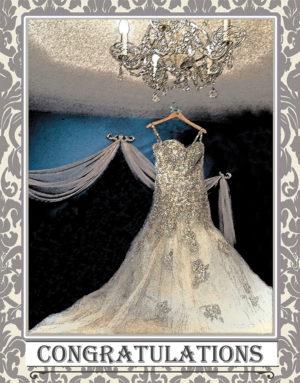 Wedding dress greeting card. Photography by Kathryn Hanson, ShutteredEye.