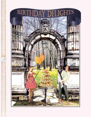 Garden of Delights, Guild Inn, Scarborough greeting card by ShutteredEye.