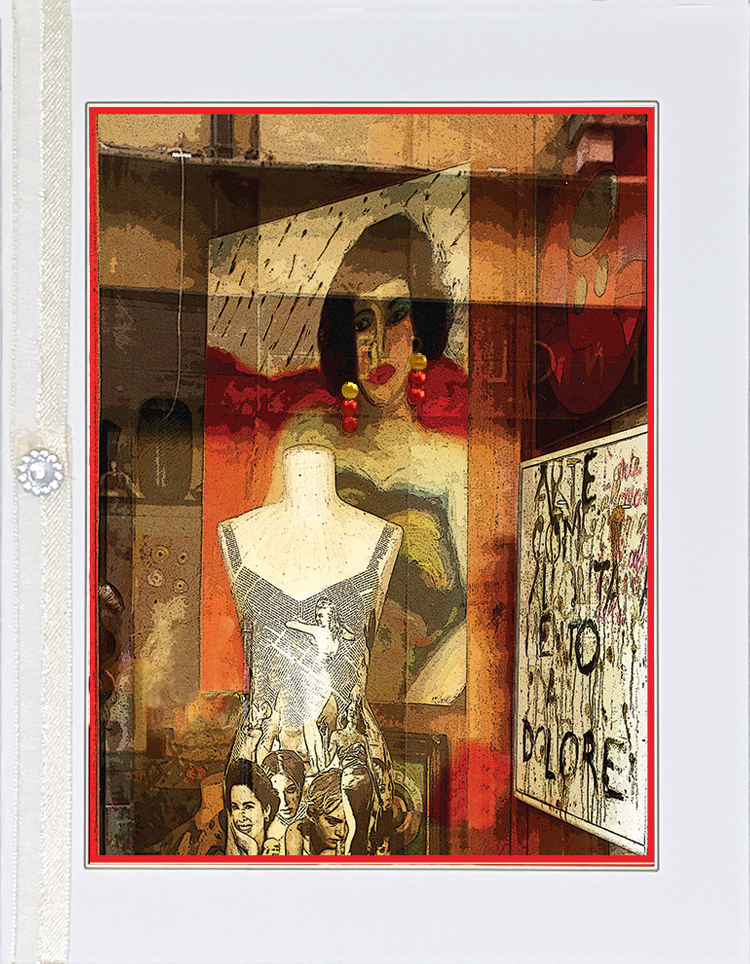 Woman with Earrings greeting card by Kathryn Hanson, ShutteredEye.