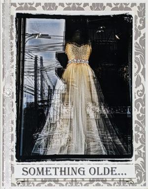 The Dress, City Reflections greeting card by Kathryn Hanson, ShutteredEye