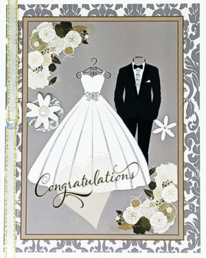 The Bride and Groom greeting card by Kathryn Hanson, ShutteredEye