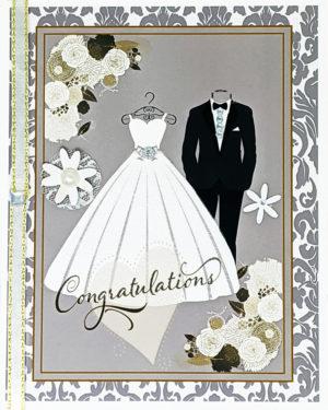The Bride and Groom greeting card by Kathryn Hanson, ShutteredEye