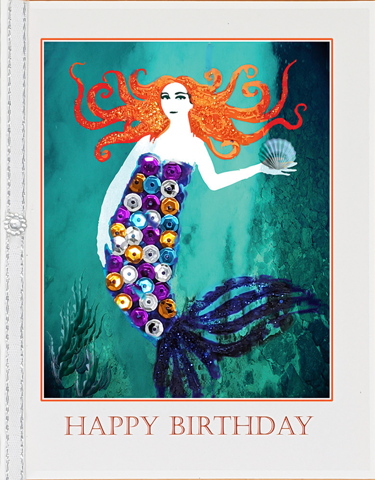 The Mermaid greeting card. Photography by Kathryn Hanson, ShutteredEye.