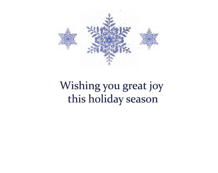 Wishing you great joy this holiday season message for inside card. Kathryn Hanson, ShutteredEye.