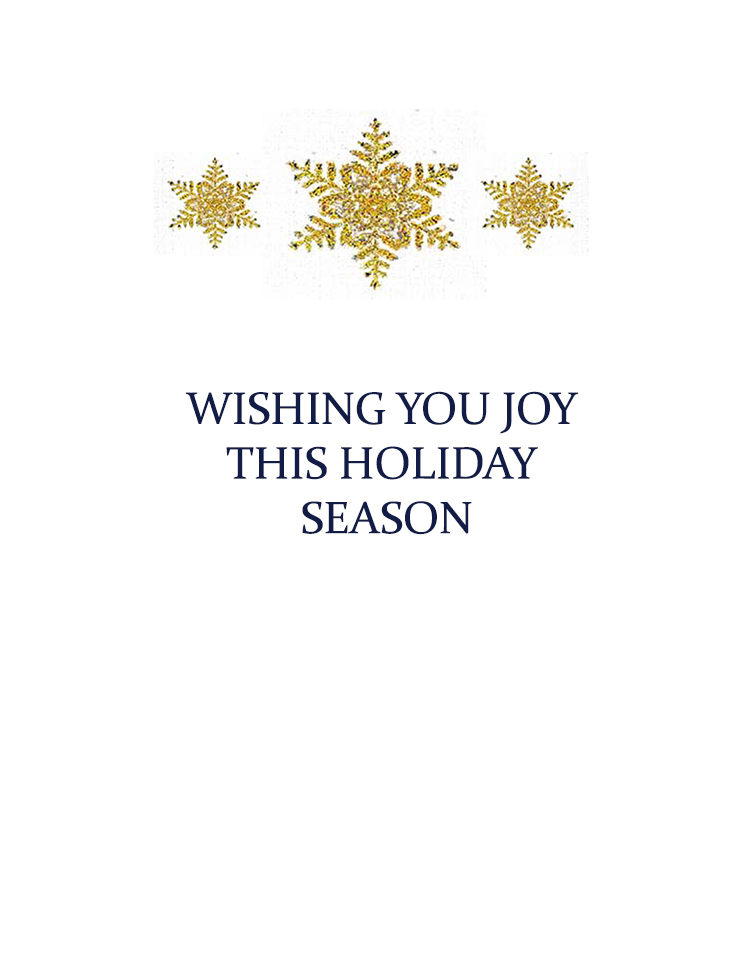Wishing you joy this holiday season message for inside card. Kathryn Hanson, ShutteredEye.