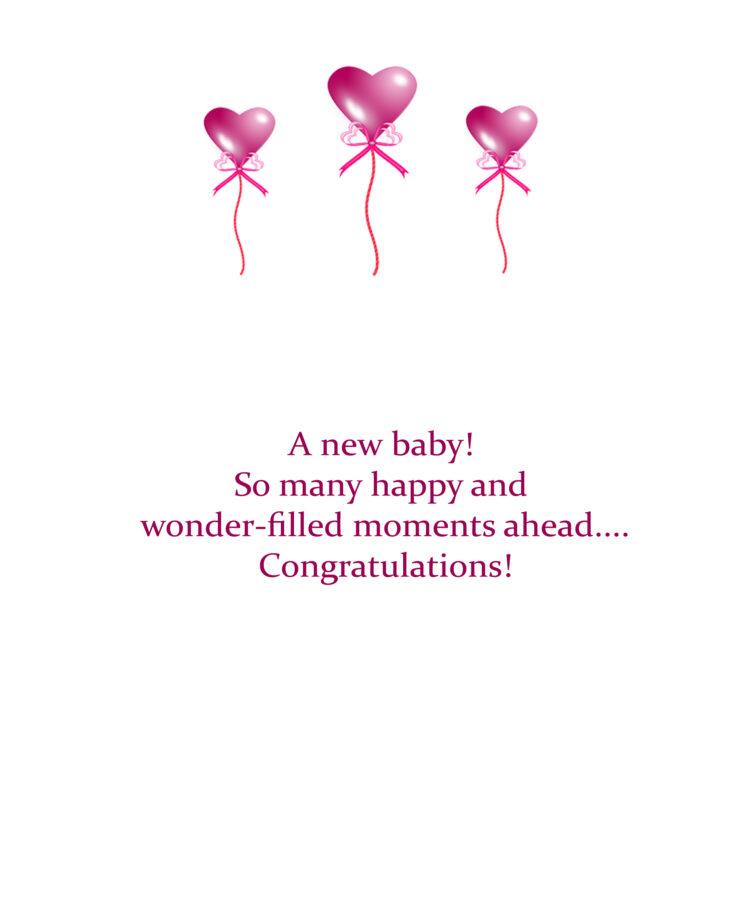 Baby Giraffe message for inside card. Kathryn Hanson, ShutteredEye.