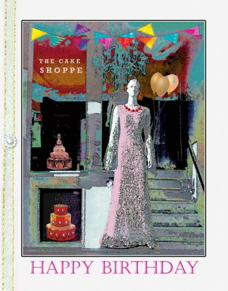 The Cake Shoppe greeting card by Kathryn Hanson, ShutteredEye.