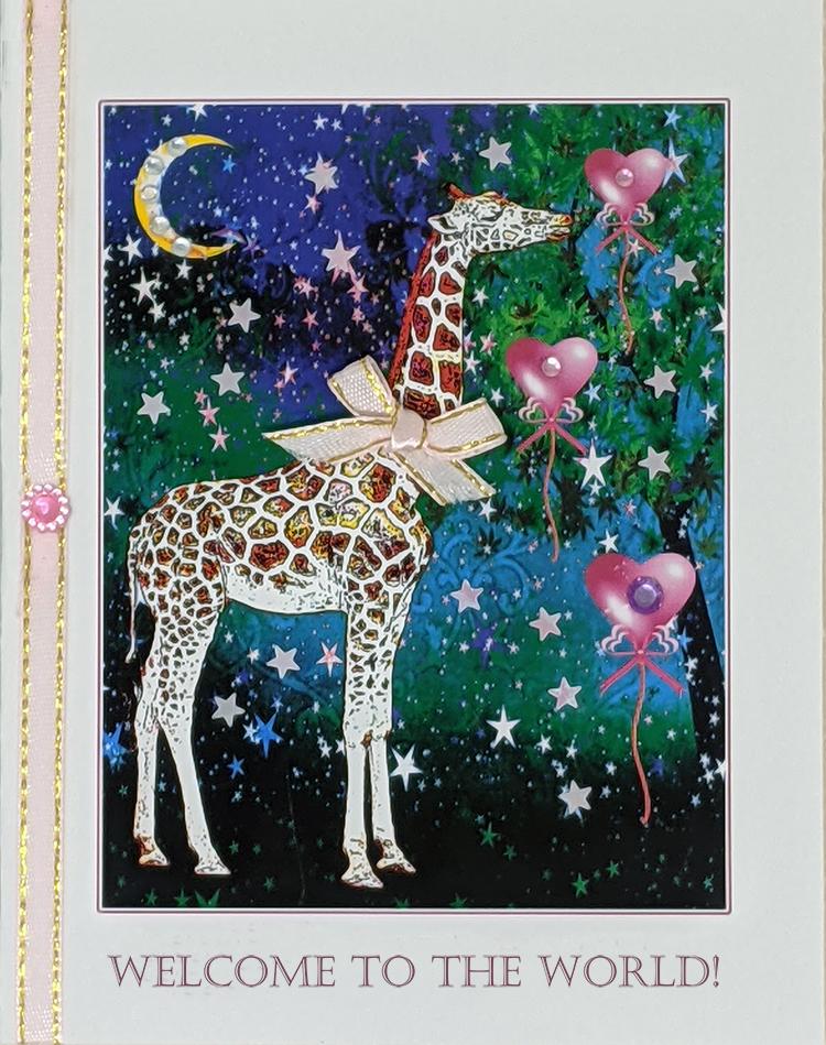 Baby Giraffe greeting card by Kathryn Hanson, ShutteredEye.